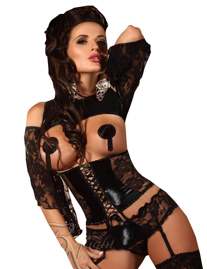 Womens Leather Lingerie Sexy 43