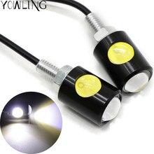 Universal led motorcycle turn signal Indicators Amber lamp waterproof always bright mode moto Super lights 12V