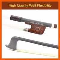 FREE CASE Light 4/4 Size Master RainbowBouncy VIOLA BOW Woven Carbon Fiber Stick More Durable Straight Strong Violin Accessories