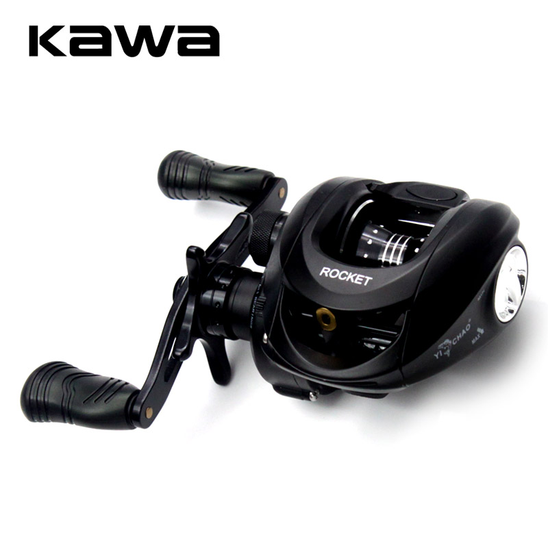 2018 Kawa New Bait Casting Fishing Reel Gear Ratio 6.1:1 Bait casting Reel Magnetic Brake Bearing 6+1 Eva Knob Max Drag 4.5KG trulinoya full metal body baitcasting reel 7 0 1 10bb carbon fiber double brake bait casting fishing reel max drag 7kg