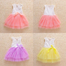 Kids Party Princess Flower Girls clothess Sleeveless Tulle Dress Sequins Bow Tutu Dresses