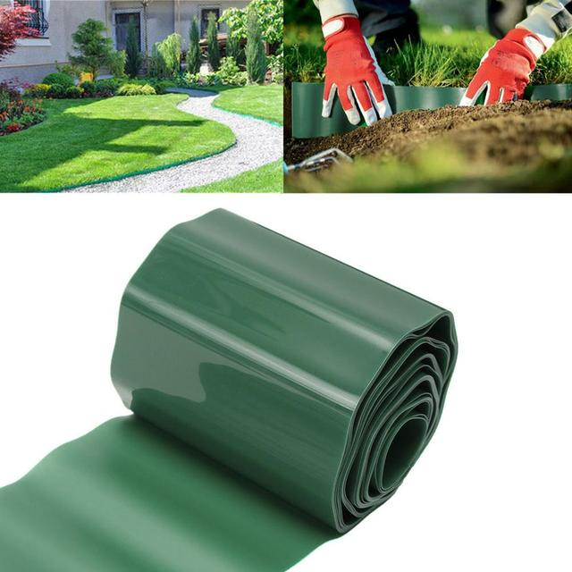 Superbe Durable Plastic Garden Grass Fence Path Lawn Green Edge Gravel Border Tool