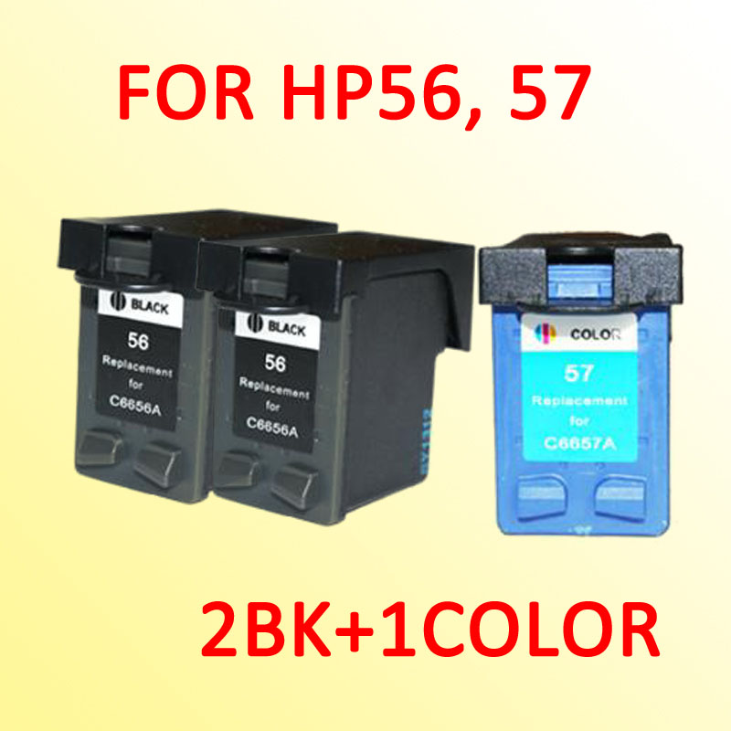 3pcs for hp56 for hp57 ink cartridge for hp 56 57 officejet 4110 4255 4256 5510 5608. Black Bedroom Furniture Sets. Home Design Ideas