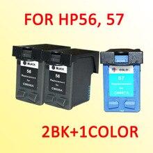 3 шт. для hp56 hp57 чернильный картридж для hp 56 57 Officejet 4110/4255/4256/5510/5608/5609/5610/6110 принтера