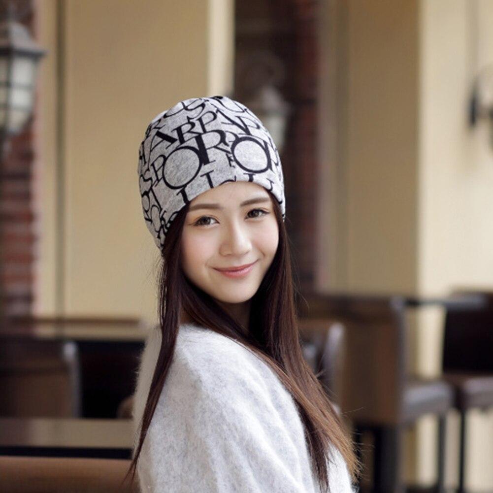 Autumn Winter Women Men Beanies Hat Unisex Baggy Hat Fashion Hip-Hop English Letter Multi Purpose Casual Baggy Hat 2019 New Hot