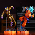 Dragon Ball Z Супер Саян Гоку Золото Фриза Аниме Боевая Издание ПВХ Фигурку игрушки Коллекционные Игрушки