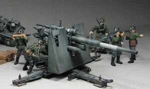 Image 4 - 1:35 모델 구축 키트 독일 88mm 건 플랙 36/37 w/9 피규어 ks750 군용 탱크 어셈블리 tamiya 35017