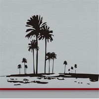 Tall Palms Tree Wall Decal Retro Wall Deor of Trees Unique Wall Sticker Wallpaper For Home Deocr