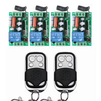 4 Receiver 2 Transmitter AC 220V 10A Wireless Remote Control Wireless Light Switch System Light Lamp