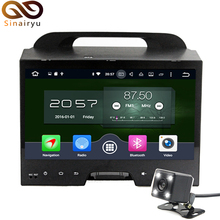 Sinairyu 4GB RAM Octa Core Android 6.0 Car DVD GPS Navigation Multimedia Player Car Stereo For KIA Sportage 2010 2011 2012 Radio
