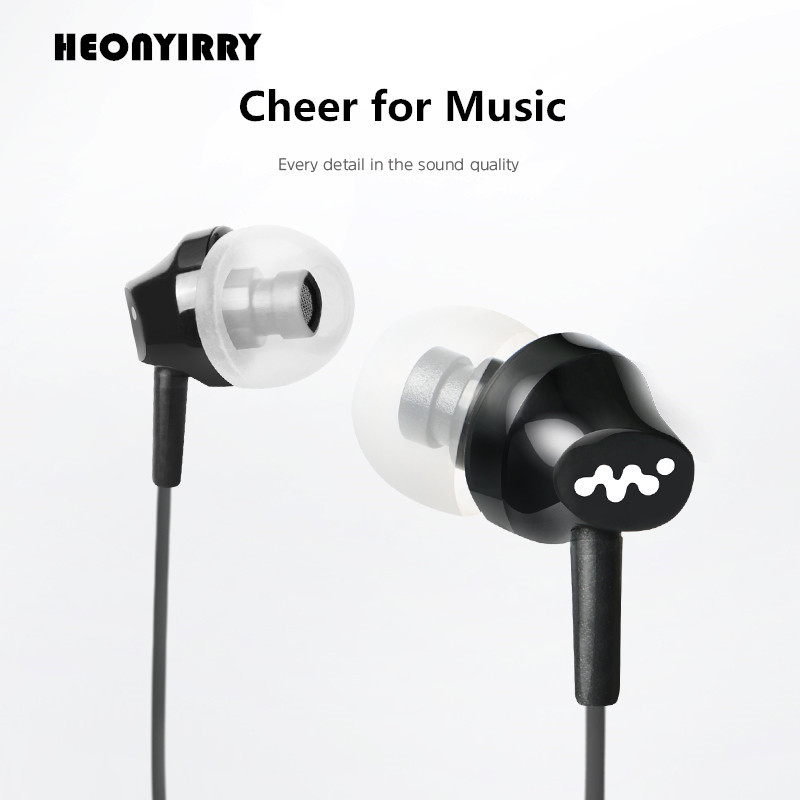 Sports Music Earphone Clear HiFi Earbuds/Earpiece Stereo Heavy Bass Earphones For Ipod/Samsung/Xiaomi MP3 Iphone 5/6/6S/7 Plus
