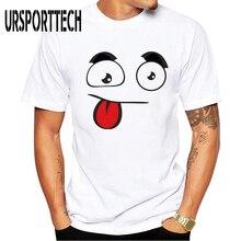 цены на URSPORTTECH Summer Men T Shirt 3D Funny Emoji Expression Print T Shirts Men Casual Short Sleeve O Neck Tshirts Man Top Tees Soft  в интернет-магазинах