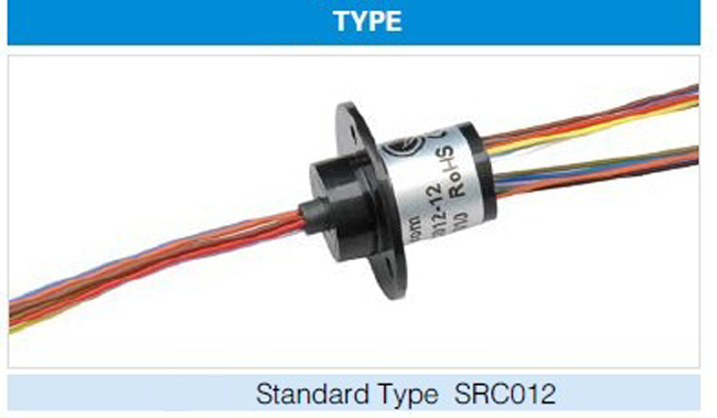 SRC-012 Standard Type Slip Ring 6 Channel Double Contact Universal Contactor 2A Slipring Conductive Capsule Slip Rings