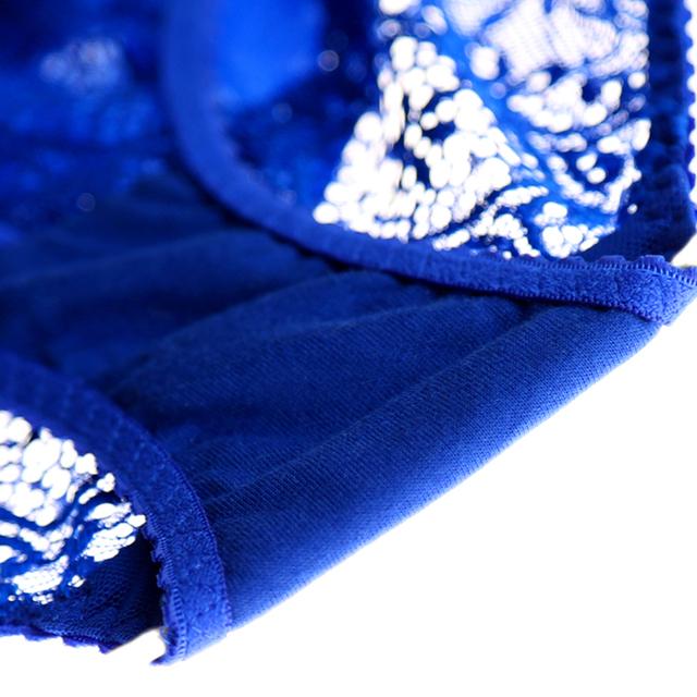 Winter Autumn 1/2 Cup Sexy Lace Bra Set Women Transparent The Underwire Bra Brassiere Bra & Brief Sets White/Black/Blue