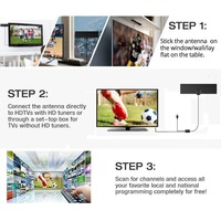 80 Miles Antenna Digital HDTV Indoor TV Antenna 4K HD VHF UHF Freeview for Life Local Channels Broadcast for All Types 4