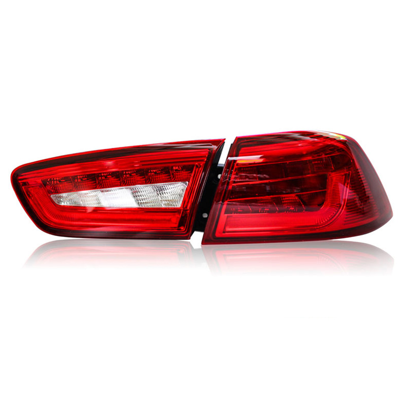 2 pieces Rear L/R DRL Rear Trunk Signal+Brake+Reverse LED Taillights For Mitsubishi lancerex EX