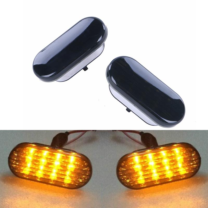 Prix pour 2x Ambre Beetle LED Side Marker Lumière Éteindre la Lampe De Signal fumé Objectif Pour VW Jetta Golf Mk4 Passat B5 1999-2004 #976