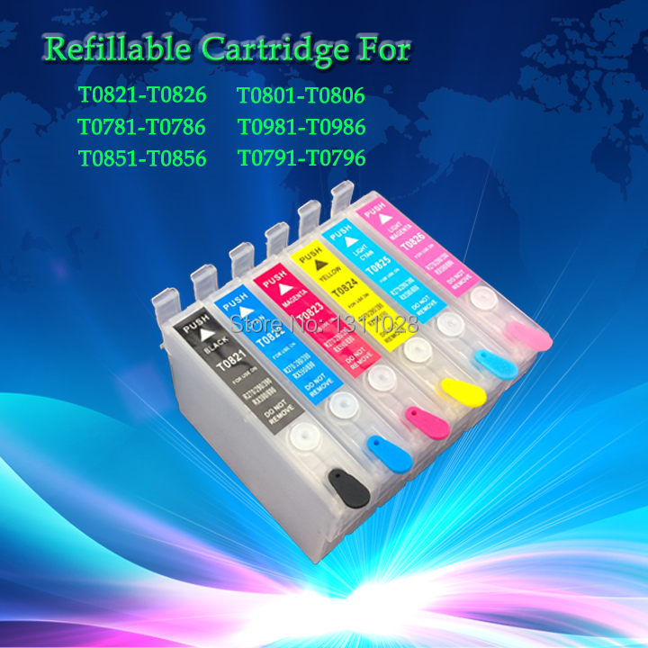 INK WAY 5 sets of T0791 T0796 T0791 T0792 T0793 T0794 T0795 T0796 Refillable ink cartridge