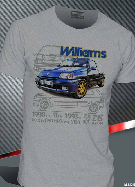 T-Shirt Renault Clio Williams 2.0 16V Maxi Rally Legend Montecarlo 2019 Hot Sale Men'Short Sleeve O-Neck Summer Print T Shirt