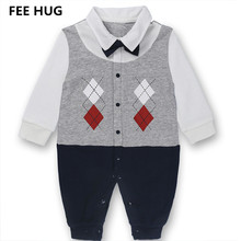 FEE HUG Toddler Baby Boys Rompers Infant Cotton Long Sleeve Autumn Jumpsuits Newborn Baby Clothes Spring Baby Girl Clothing