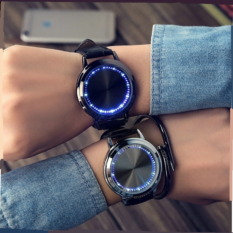 Trendy Creative Fashion LED Simple Smart Touch Screen Watch Electronic Watch Male And Female Couple