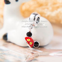 2017 Spring S925 Sterling Silver Parks Mickey Ear Hat Dangle Pendant Charms Beads Fit European DIY Bracelets Necklace PDS118