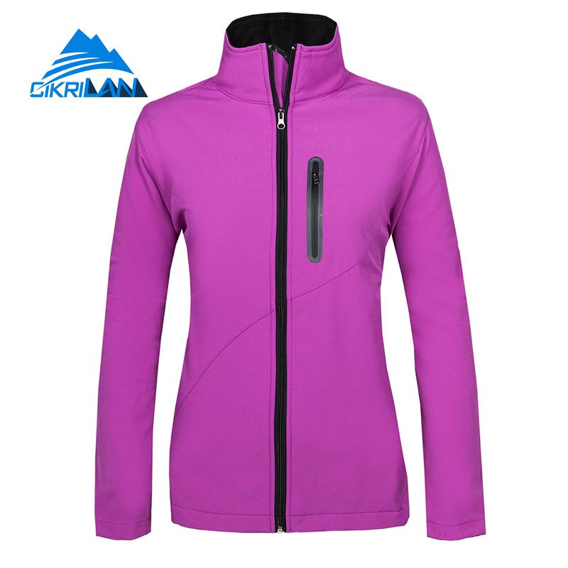 New Water Resistant Windstopper Sport Fishing Hiking Softshell Outdoor Jacket Women Camping Coat Fleece Liner Chaquetas Mujer