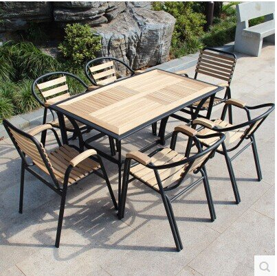 Outdoor furniture leisure furniture wood balcony patio ...