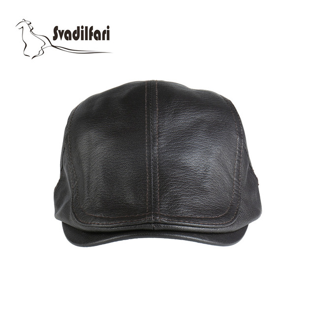 2018 New fashion real leather capfor Dad winter cap men man hats winter hat  outdoor hat eba7dcbc50e