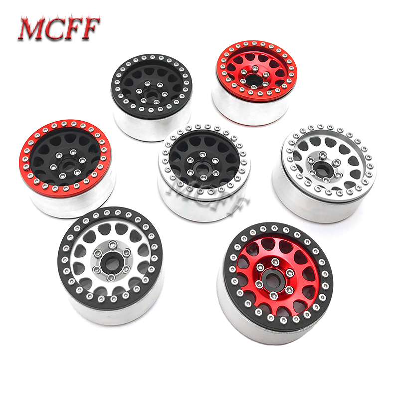 Image 2 - 4Pcs Metal RC Rock Crawler 1.9 Inch Beadlock Wheel Rim Hub  For 1/10 Axial SCX10 90046 TAMIYA CC01 D90 D110 TF2 Traxxas TRX 4-in Parts & Accessories from Toys & Hobbies
