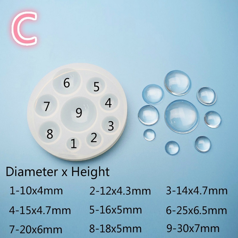 1pc Water Drop Silicone Mold Crystal Pendant Mould Kitchen Candy Fondant Molds Cake Decorating Tool