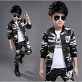 2017 Brand Boy Sport Camouflage Clothing Set for Autumn Spring Print Long Sleeve+ Pants Boy School Fashion Clothes Set