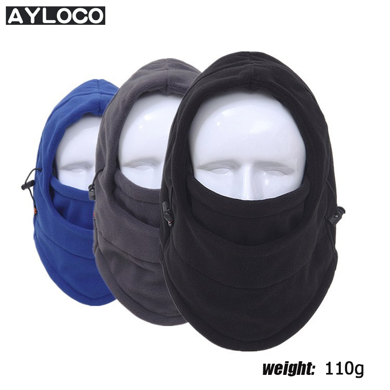 Winter Warm Motorcycle Wind proof Face Mask Neck Helmet beanies Cap Sports Bicycle Thermal Fleece Balaclava Hat for men women