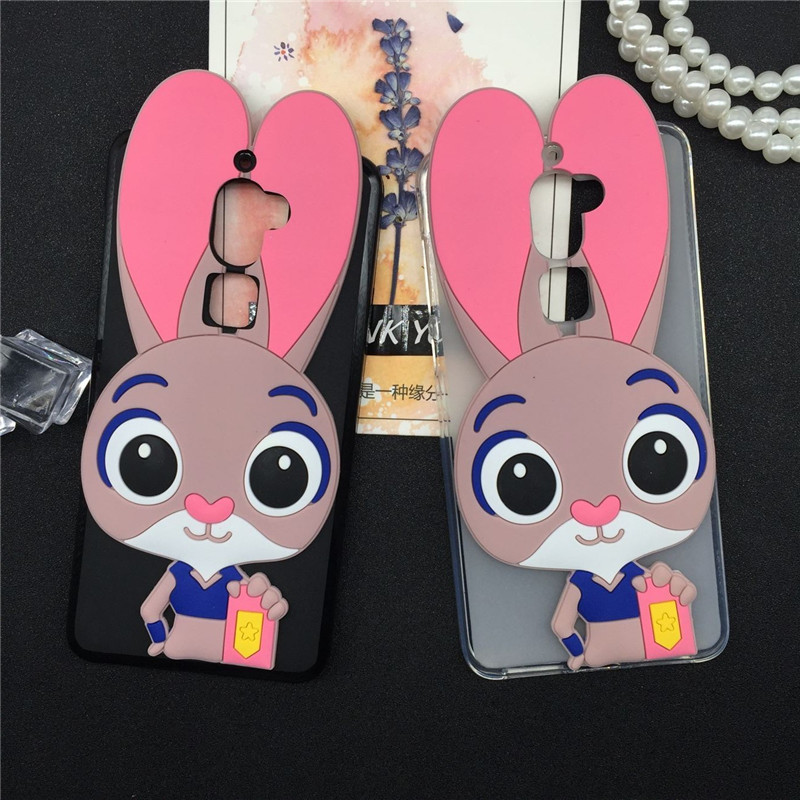 Luxury Phone Girl Case Capa Coque for Letv Leeco Le Cool 1 / Coolpad Cool1 Rabbit Soft Silicon Cases Lovely Cartoon Back Cover