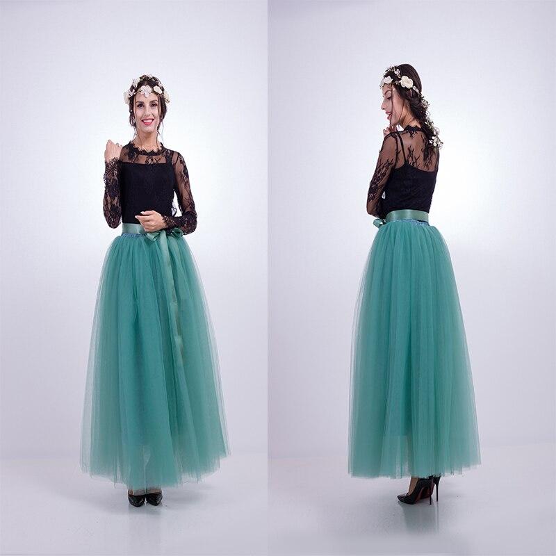 7 στρώματα Maxi Long Φούστες Γυναικεία - Γυναικείος ρουχισμός - Φωτογραφία 3