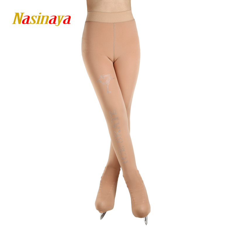 Customized Figure Skating pantyhose for Girl Women Training Competition Patinaje Ice Skating Warm Fleece Gymnastics skin