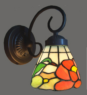Free shippingTiffany stained glass lamps American country bird children bedroom bedside lamp mirror balcony background wall lampFree shippingTiffany stained glass lamps American country bird children bedroom bedside lamp mirror balcony background wall lamp