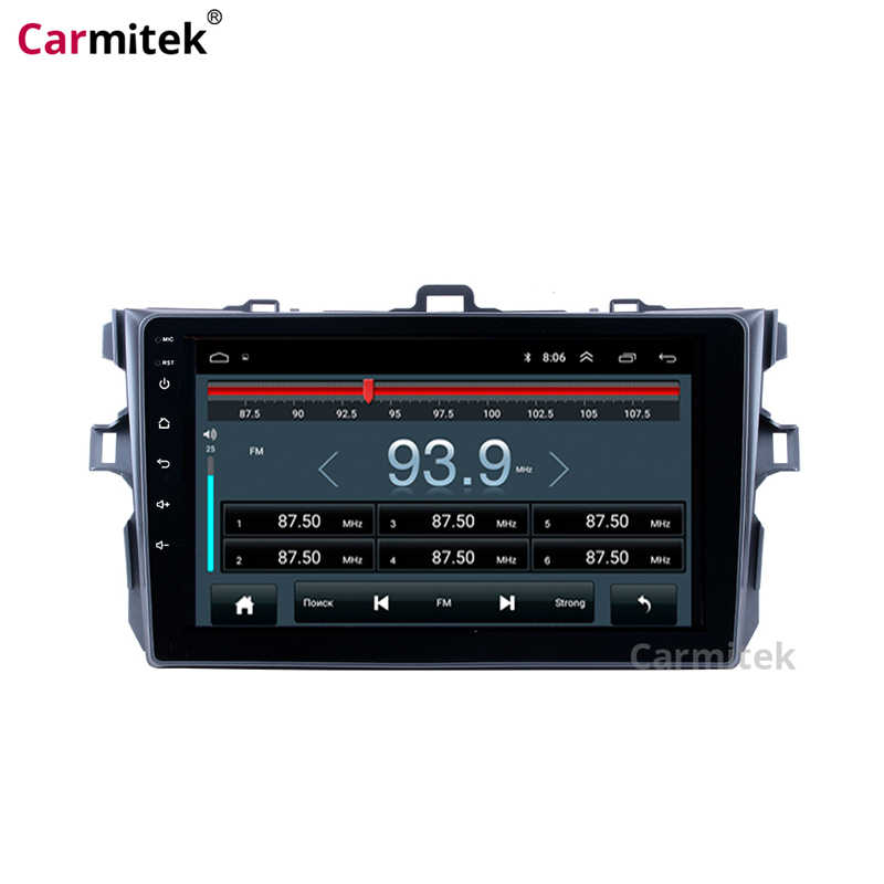 Auto Centrale Multimedia Gps Navigatiesysteem Head Unit Radio Android Touch Screen 2 Din Dvd Speler Voor Toyota Corolla 2007 -2013