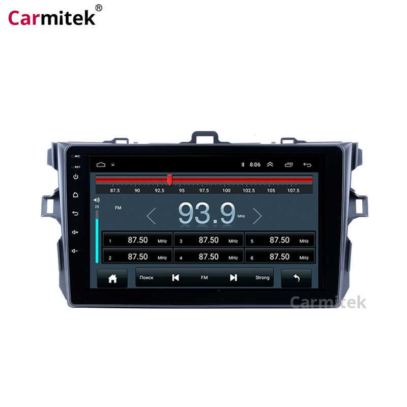 Sistema multimídia automotivo, central multimídia para navegação gps, sistema de rádio, android, touch screen, 2 din, dvd player para toyota corolla 2007-2013