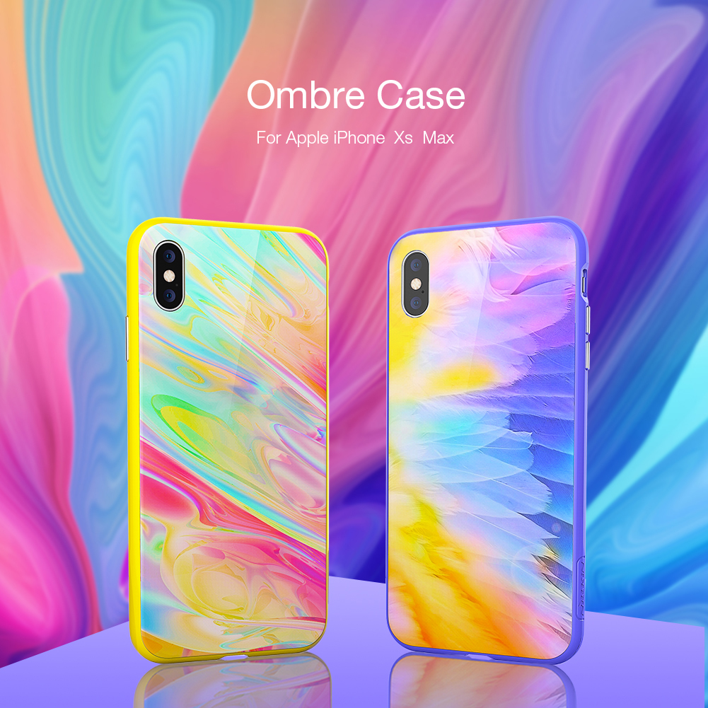 159604a256750 US $12.99 |Nillkin Ombre case for iPhone Xs Max Magnetic Bumper Tempered  Glass Back Cover Protective for Apple iPhone XsMax-in Fitted Cases from ...