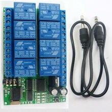 AD22A08 DC 12V 8 canales, relé DTMF MT8870, decodificador, interruptor de Control remoto para teléfono