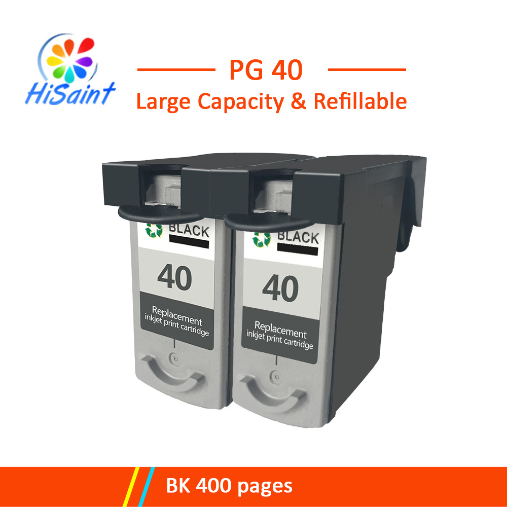 Hisaint 2x BK For Canon PG40 Ink Cartrid for Canon PIXMA IP2500 - ماشین های اداری