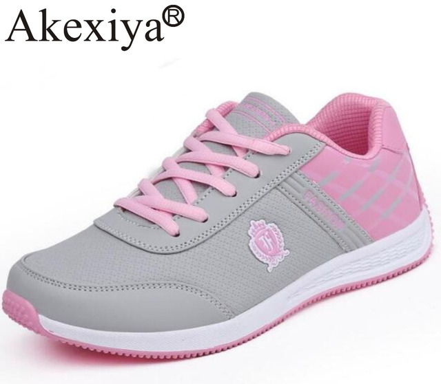 8cc383615302 Akexiya Girl s New Sports Shoes Female Breathable Comfortable Mesh Ladies Running  Shoes For Women Soft Outdoor Flats shoes