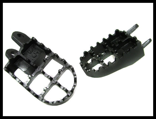 STEEL FOOT PEGS FOOTPEGS for Honda CR80 XR250 XR350R XR400 XR600R XR650R XR650L girls glitter hair clip 2pcs