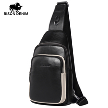 BISON DENIM 2016 High Quality Cross body bags men leather genuine designer Messenger bags for men