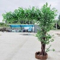 artificial big tree Landscape tree Ficus microcarpa greenery Plant Store decoration scenery artificial flower