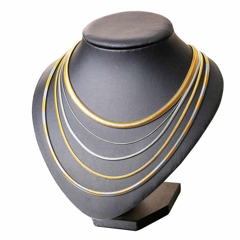 Męskie łańcuchy ze stali nierdzewnej naszyjnik z wężem 24 cali 20 cali złoty kolor srebrny kobiety biżuteria hurtowych