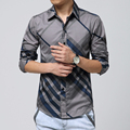 2016 Korean fashion Mens casual shirt brand dress shirt plus size M-6XL clothes cotton Shirt male Floral Shirt drop shipping