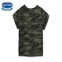 NOVATX t shirts for baby boys 2017 new summer tee tops casual short sleeve o-neck army clothes kids clothing boys shirts MC6601