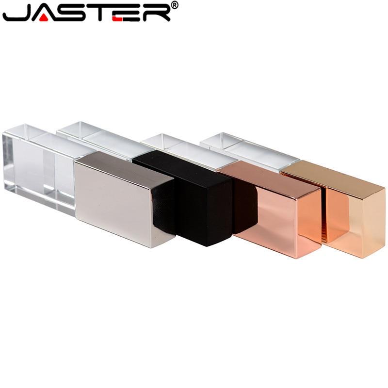 JASTER USB 2.0 Acrylic Crystal Clear 3D Flash Drive Company Logo Gift